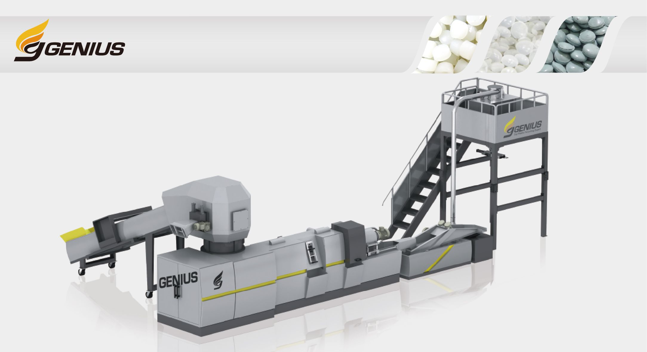 Cutter Compactor Plastic Recycling Machine