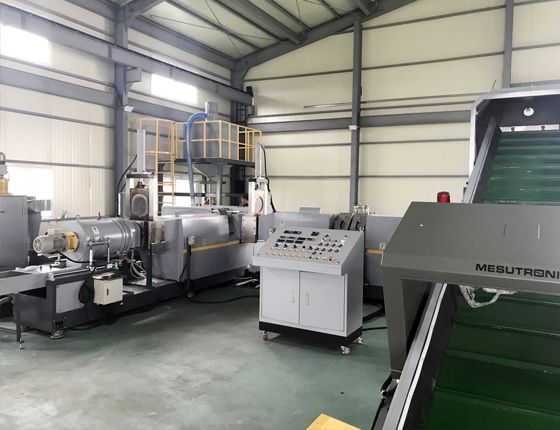 KRIEGER-Z-125i cutter compactor plastic recycling machine installed in Korea