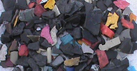 Washed Plastic Vehicle Parts