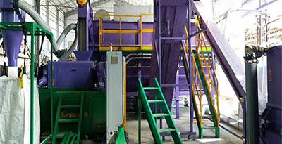 Установка для промывки пленки из пластика