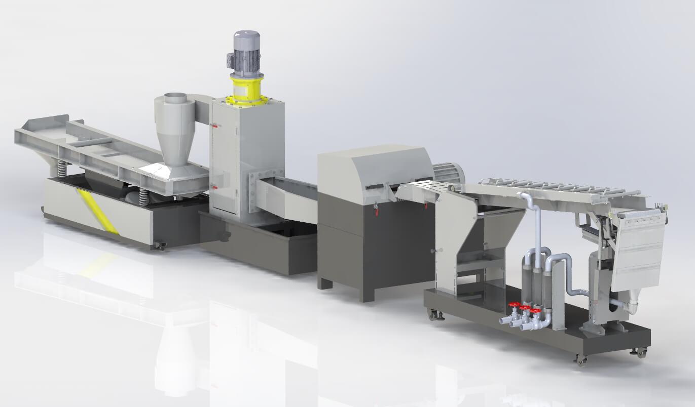 Автоматическая система стренгового гранулирования