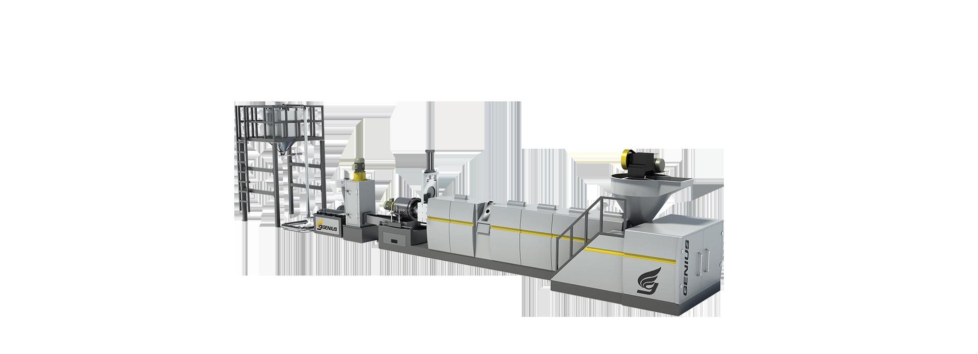 Force Hopper Feeding Plastic Recycling Machine