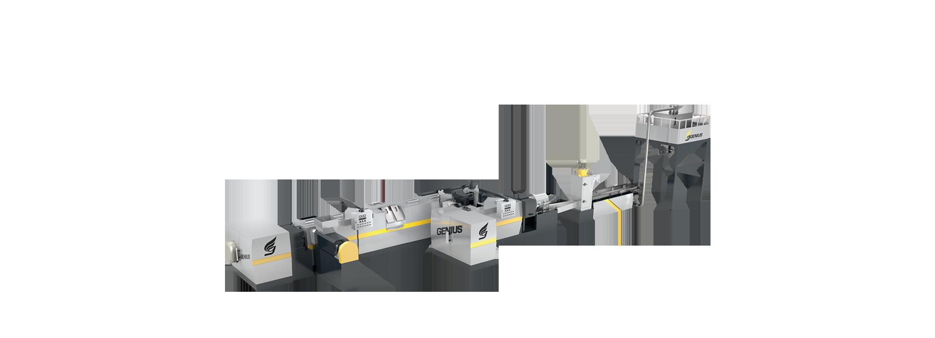 強制サイドフィードツーステージプラスチックリサイクル造粒機